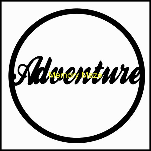 Adventure in circle 75 x 75mm packs of 10 Memory Maze